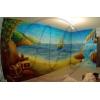 Рисунок на стене,  декоративная аэрография,  роспись потолков