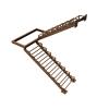 Лестница с площадкой из металлокаркаса